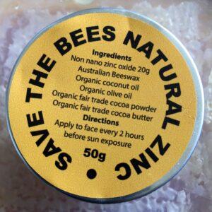 Save the bees - Natural Australian Zinc